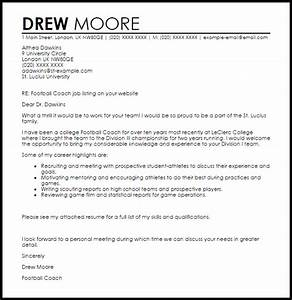 football resume resume ideas With how to write a cover letter for a coaching job