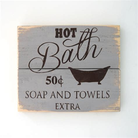 Etsy Vintage Bathroom by Items Similar To Vintage Bathroom Wooden Sign On Etsy