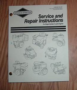 Free Service Repair Manual For Briggs And Stratton Engine