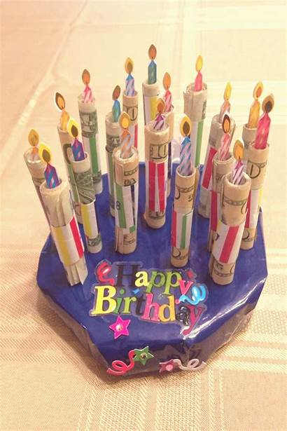 Birthday Money Cake Candles 18th Sons Gifts
