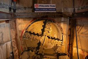Tight Radius Curve Tunnel Completed In Bangkok