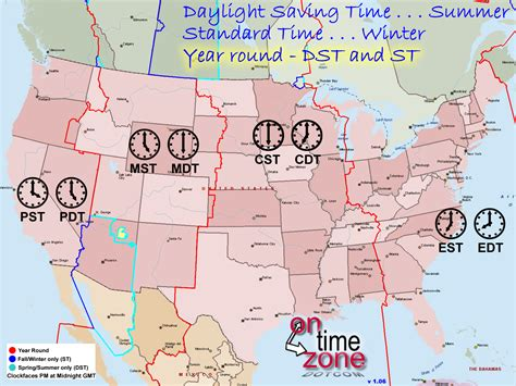 ontimezonecom time zones usa north america