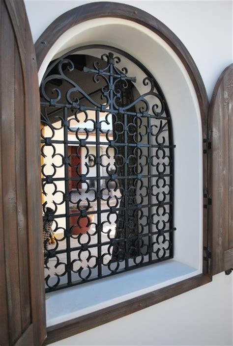 rustic wall treatments window grill traditional patio by grizzly