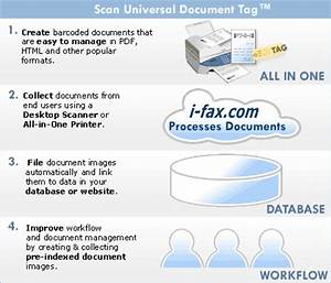 fax barcode for scanning documents using all in one With fax a scanned document
