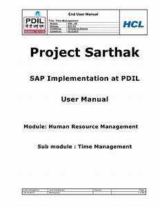 Sap Hr Time Management User Guide
