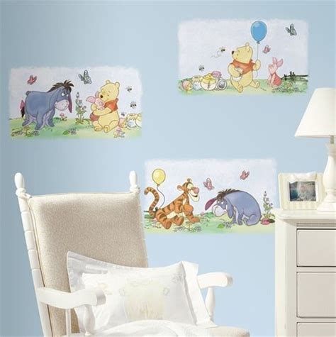 new winnie the pooh wall posters decals baby room nursery