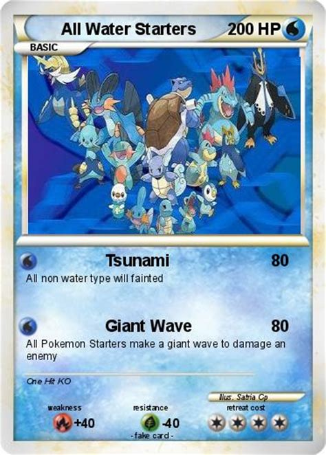Check spelling or type a new query. Pokémon All Water Starters - Tsunami - My Pokemon Card