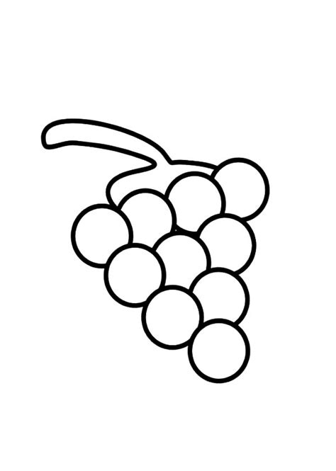 Coloring Grapes by Grapes Coloring Pages Color