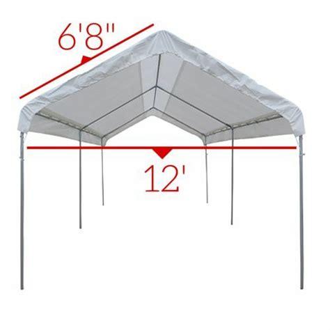 heavy duty  mil valance replacement canopy tarp carport cover tan ebay