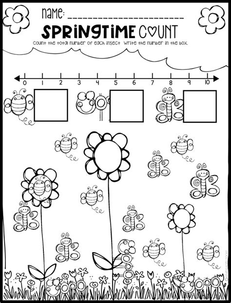 spring math and literacy printables and worksheets for pre