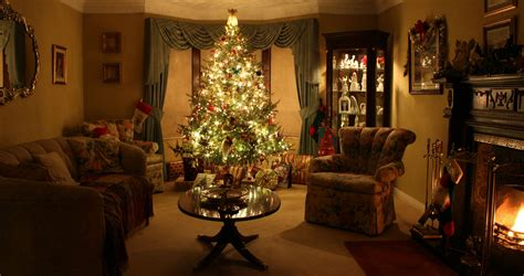 Gorgeous Christmas Living Room With Christmas In The