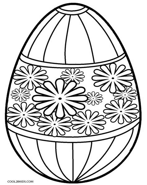 easter egg color sheets clipart