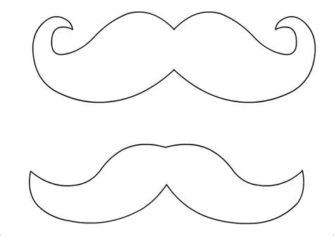 Mustache Print Out Template by Mustache Template The Letter Sle