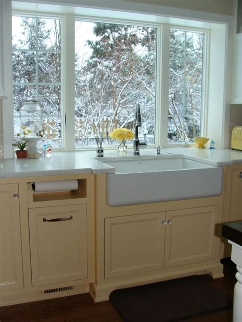 Counter height windows. like the sink and paper towel spot