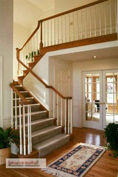 contoh model desain tangga rumah minimalis blog interior