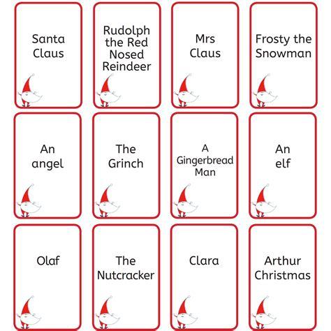Free Printable Christmas Games Christmas Who Am I?