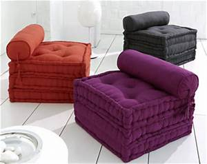 Gros Coussin De Sol : pouf futon coussin matelas coussin de sol becquet ~ Teatrodelosmanantiales.com Idées de Décoration