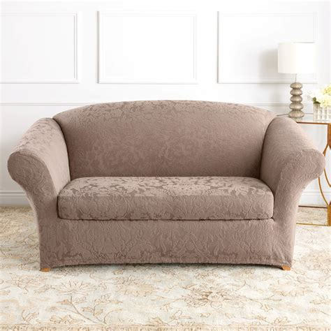 sure fit slipcovers for sofas sure fit slipcovers form fit stretch jacquard damask 2