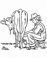 Coloring Cow Farm Pages Animals Milking Boy Chores Boys Farming Printable Sheets Scenes Activity Clipart Sheet Milk Honkingdonkey Kleurplaat Activities sketch template