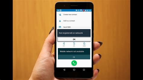 how to fix not registered on network issue in android