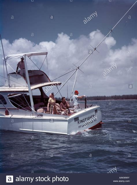Buy A Fishing Boat In Florida by 1950s White Charter Fishing Boat 3 Men 1 Woman Ft