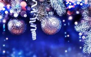 Download, Wallpapers, New, Year, Blue, Christmas, Background, Decoration, Silver, Christmas, Balls
