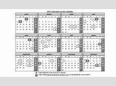 Calendario de días inhábiles 2015 de cara a los plazos
