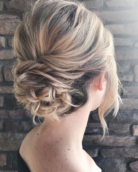 messy textured updo bridal hairstyle updos updos