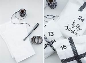 Adventskalender Tüten Depot : diy last minute adventskalender in schwarz weiss rosy grey ~ Watch28wear.com Haus und Dekorationen