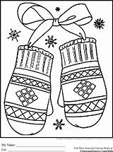 Coloring Winter Mittens Printable Holiday Adults Sheets Ginormasource Animal sketch template