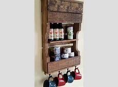 Pallet Kitchen Organizer Tea Rack Pallet Furniture Plans