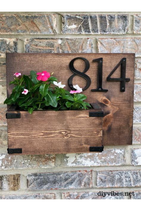 diy house number sign diy vibes