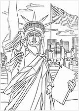 Liberty Statue Coloring York France Gift Pages Enlightening United Adult Friendship States sketch template