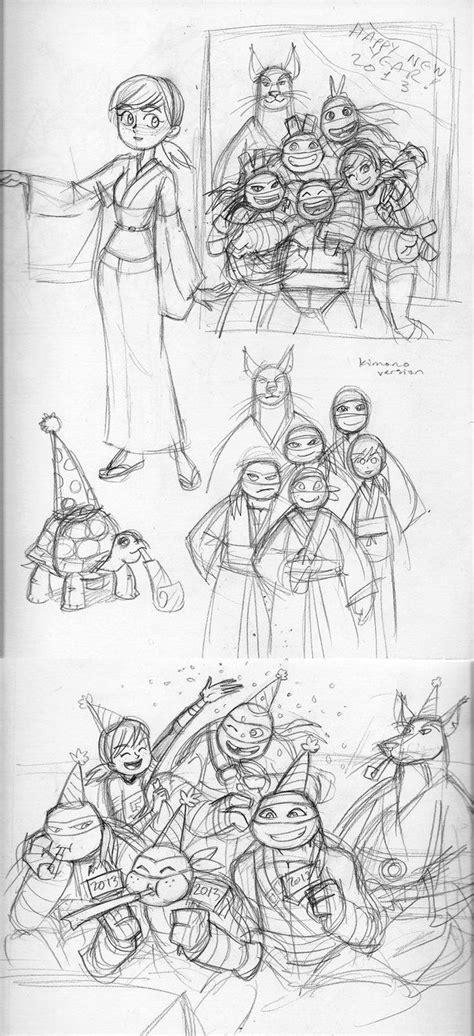 tmnt sketches   years  pinterest