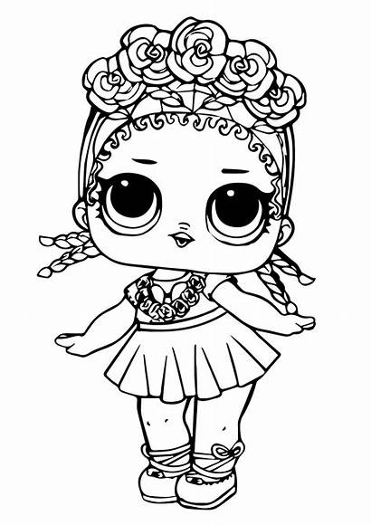 Lol Coloring Surprise Doll Dolls Pages Sheets