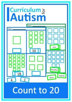 counting   worksheets autism special education cut