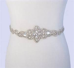 Bridal belt crystal rhinestone wedding dress by for Wedding dress belts crystal
