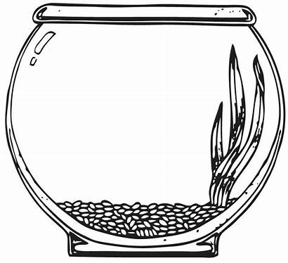 Fish Bowl Clipart Template Tank Empty Coloring