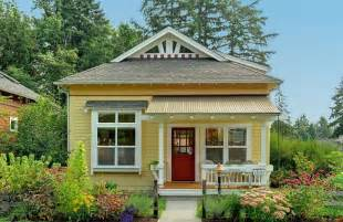 Stunning Tiny Cottage Homes by Bloombety Beautiful Small House In Wood Yellow Wall
