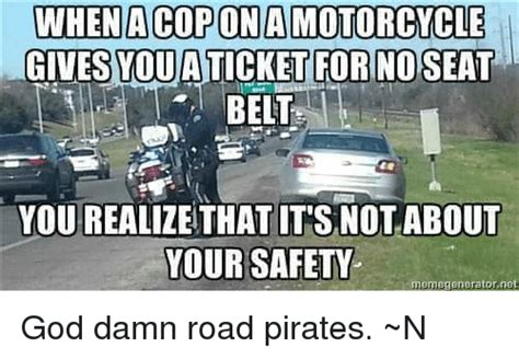 When Acopona Motorcycle Gives You A Ticket For No Seat