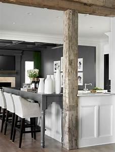 Poutre En Chene : bar en bois blanc ~ Premium-room.com Idées de Décoration