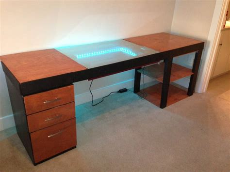 how to make a computer desk infinity mirror computer desk design is a trippy adventure