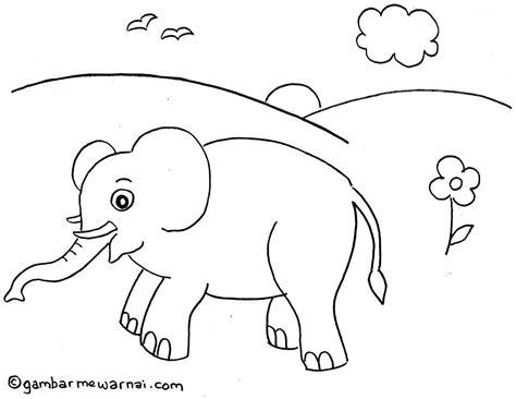 Coloring Gajah by 10 Mewarnai Gambar Gajah Bonikids Coloring Page T