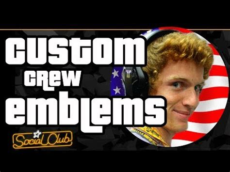 upload  custom crew emblem  gta   youtube