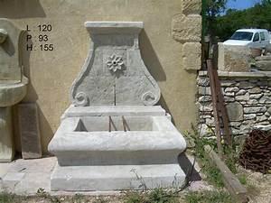 Fontaine D Exterieur En Pierre : fontaine murale en pierre neuve et vieillie les ~ Premium-room.com Idées de Décoration