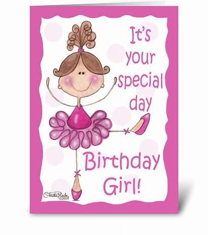Birthday Cards Greeting Ballerina Card Christie Send
