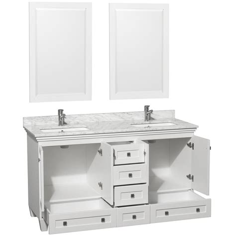 white double sink vanity 301 moved permanently