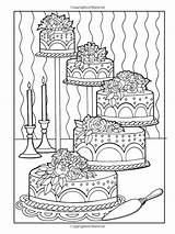 Coloring Desserts Cake Creative Haven Designer Colouring Printable Sheets Adult Mandala Popular sketch template