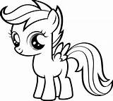 Pony Coloring Pages Baby Cute Getcoloringpages Fluttershy sketch template