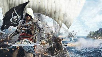 Creed Flag Wallpapers 1600 Assassin Iv 1366
